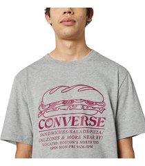 converse camiseta sandwich shop white