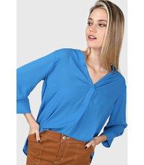 blusa azul ted bodin miro