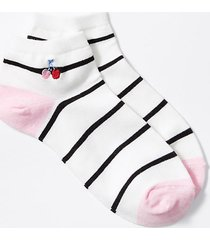 loft cherry embroidered ankle socks