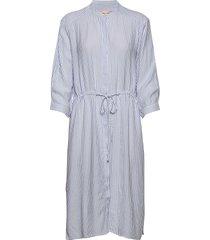 allysia shirt dress knälång klänning blå soft rebels