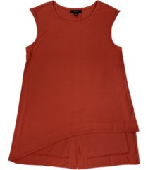 alfani asymmetrical sleeveless top, created for macy's