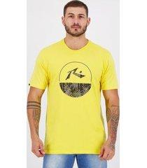 camiseta rusty silk cuts amarela - masculino