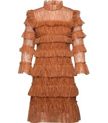carmine mini dress korte jurk bruin by malina