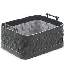 ravenna braided leather bronze handle large basket