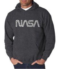 la pop art men's word art hooded sweatshirt - worm nasa