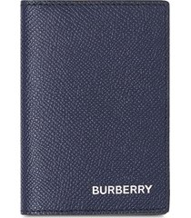 burberry grainy leather bifold card case - blue
