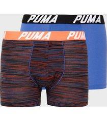puma spacedye stripe boxer 2p boxershorts blue/orange