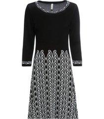 abito in maglia fantasia (nero) - bodyflirt boutique