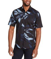 alfani men's leaf print shirt, created for macy's