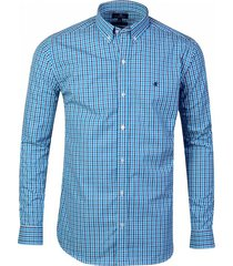 camisa celeste brooksfield brighton cuadros 4