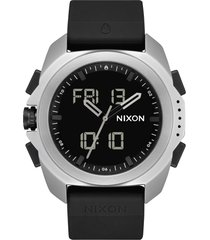 nixon ripley ana-digi silicone strap watch, 47mm in surplus /black at nordstrom