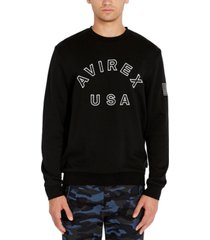 avirex men's logo patch sweatshirt