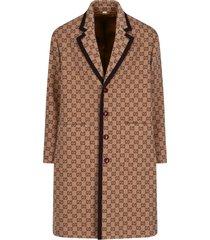 gg jacquard coat