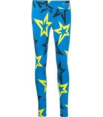 perfect moment starlight low rise leggings - blue