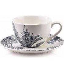 filiżanka porcelanowa ze spodkiem tropical