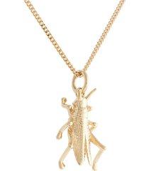 karen walker 9kt yellow gold grasshopper necklace