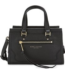 marc jacobs women's mini cruiser leather satchel - black