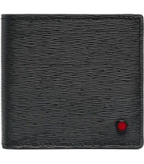kiton man black saffiano leather wallet