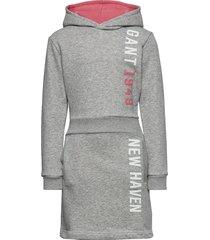 d1. gant color hoodie dress hoodie trui grijs gant