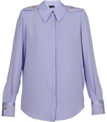 elisabetta franchi georgette shirt