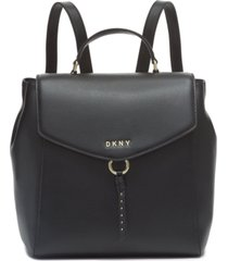 dkny lola leather backpack