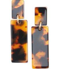 zenzii gold-tone & acetate block drop earrings
