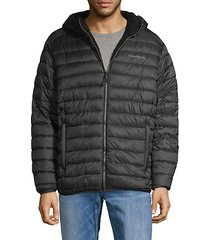 faux shearling-lined puffer jacket