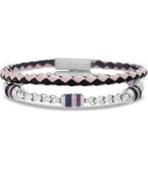 ben sherman braided leather men's bracelet