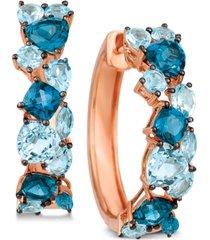 le vian blue topaz hoop earrings (5-3/8 ct. t.w.) in 14k rose gold