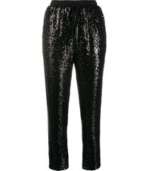 alchemy sequinned track trousers - black
