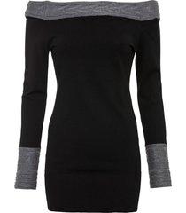 maglione con spalle scoperte (nero) - bodyflirt boutique