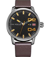 reloj análogo f0022g-2 hombre café