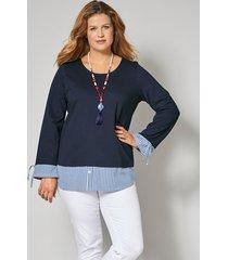 2-in-1-sweatshirt janet & joyce marine::wit