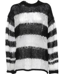 kenzo kenzo stripe chunky-knit jumper