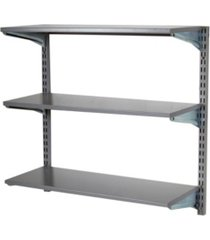 triton products storability wall mount shelving unit with 3 epoxy coated steel shelves mounting hardware
