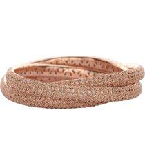 universo cognac diamond trio bracelet