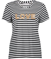 geisha 12038-40 t-shirt striped 'love'