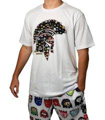 camiseta kevland pixel branco