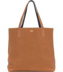 hermès 2018 pre-owned double sens 36 reversible tote bag - brown