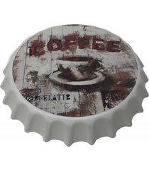 placa tampa cerveja decorativa churrasqueira route66 40x40x5