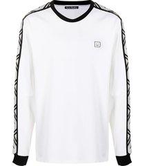 acne studios logo-tape oversized sweatshirt - white
