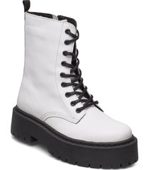 biadeb laced up boot shoes boots ankle boots ankle boot - flat vit bianco