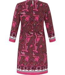 jurk met 3/4-mouwen en knoopsluiting achter van emilia lay multicolour