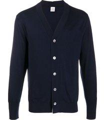eleventy lightweight wool cardigan - blue