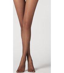 calzedonia 8 denier ultra sheer tights woman black size xlsho