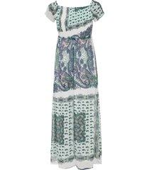 gedessineerde maxi jurk