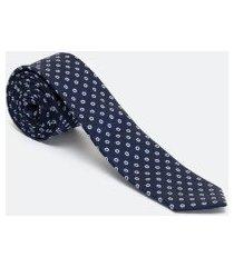 gravata estampada gravataria slim vermelho | preston field | azul | u