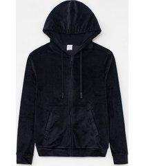 jaqueta esportiva com capuz e bolsos