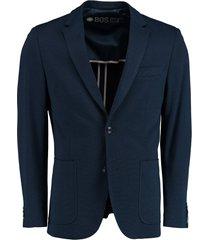 bos bright blue colbert donkerblauw slim fit 211038lx54bo/290 navy