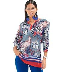 blouse amy vermont royal blue::koraal